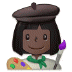 👩🏿‍🎨 woman artist: dark skin tone Emoji on Samsung Platform