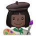 👩🏿🎨 woman artist: dark skin tone Emoji on Samsung Platform