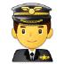 👨✈️ man pilot Emoji on Samsung Platform