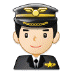 👨🏻‍✈️ man pilot: light skin tone Emoji on Samsung Platform