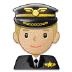 👨🏼✈️ man pilot: medium-light skin tone Emoji on Samsung Platform