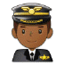 👨🏾‍✈️ man pilot: medium-dark skin tone Emoji on Samsung Platform