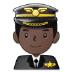 👨🏿✈️ man pilot: dark skin tone Emoji on Samsung Platform