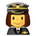 👩✈️ woman pilot Emoji on Samsung Platform
