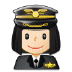 👩🏻‍✈️ woman pilot: light skin tone Emoji on Samsung Platform