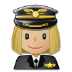 👩🏼‍✈️ woman pilot: medium-light skin tone Emoji on Samsung Platform