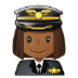 👩🏾✈️ woman pilot: medium-dark skin tone Emoji on Samsung Platform