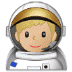 👨🏼‍🚀 man astronaut: medium-light skin tone Emoji on Samsung Platform