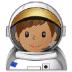 👨🏽🚀 man astronaut: medium skin tone Emoji on Samsung Platform
