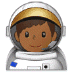 👨🏾‍🚀 man astronaut: medium-dark skin tone Emoji on Samsung Platform