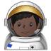 👨🏿🚀 man astronaut: dark skin tone Emoji on Samsung Platform