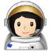 👩🏻‍🚀 woman astronaut: light skin tone Emoji on Samsung Platform