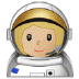👩🏼‍🚀 Medium Light Skin Tone Female Astronaut Emoji on Samsung Platform