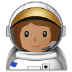 👩🏽‍🚀 woman astronaut: medium skin tone Emoji on Samsung Platform
