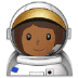 👩🏾‍🚀 woman astronaut: medium-dark skin tone Emoji on Samsung Platform
