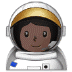 👩🏿‍🚀 Dark Skin Tone Female Astronaut Emoji on Samsung Platform
