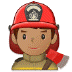 👨🏽‍🚒 man firefighter: medium skin tone Emoji on Samsung Platform
