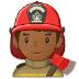 👨🏾🚒 man firefighter: medium-dark skin tone Emoji on Samsung Platform