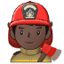 👨🏿‍🚒 man firefighter: dark skin tone Emoji on Samsung Platform