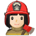 👩🏻‍🚒 woman firefighter: light skin tone Emoji on Samsung Platform