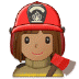 👩🏽‍🚒 woman firefighter: medium skin tone Emoji on Samsung Platform