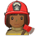 👩🏾‍🚒 Medium Dark Skin Tone Female Firefighter Emoji on Samsung Platform