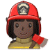 👩🏿‍🚒 woman firefighter: dark skin tone Emoji on Samsung Platform