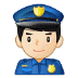 👮🏻 police officer: light skin tone Emoji on Samsung Platform