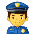 👮‍♂️ man police officer Emoji on Samsung Platform