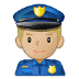 👮🏼‍♂️ man police officer: medium-light skin tone Emoji on Samsung Platform