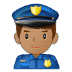 👮🏽♂️ man police officer: medium skin tone Emoji on Samsung Platform