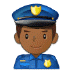 👮🏾‍♂️ man police officer: medium-dark skin tone Emoji on Samsung Platform