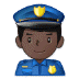 👮🏿‍♂️ man police officer: dark skin tone Emoji on Samsung Platform