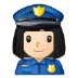 👮🏻‍♀️ woman police officer: light skin tone Emoji on Samsung Platform
