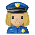 👮🏼‍♀️ woman police officer: medium-light skin tone Emoji on Samsung Platform