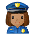 👮🏽‍♀️ woman police officer: medium skin tone Emoji on Samsung Platform