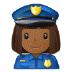 👮🏾♀️ woman police officer: medium-dark skin tone Emoji on Samsung Platform