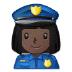 👮🏿♀️ woman police officer: dark skin tone Emoji on Samsung Platform