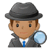 🕵🏽‍♂️ man detective: medium skin tone Emoji on Samsung Platform
