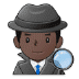 🕵🏿♂️ man detective: dark skin tone Emoji on Samsung Platform