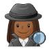 🕵🏾♀️ woman detective: medium-dark skin tone Emoji on Samsung Platform