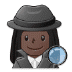 🕵🏿♀️ woman detective: dark skin tone Emoji on Samsung Platform