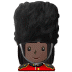 💂🏿‍♀️ woman guard: dark skin tone Emoji on Samsung Platform