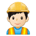 👷🏻 construction worker: light skin tone Emoji on Samsung Platform