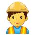 👷♂️ man construction worker Emoji on Samsung Platform