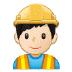 👷🏻♂️ man construction worker: light skin tone Emoji on Samsung Platform