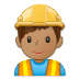 👷🏽‍♂️ man construction worker: medium skin tone Emoji on Samsung Platform