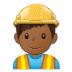 👷🏾♂️ man construction worker: medium-dark skin tone Emoji on Samsung Platform