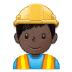 👷🏿♂️ man construction worker: dark skin tone Emoji on Samsung Platform