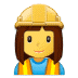👷‍♀️ woman construction worker Emoji on Samsung Platform